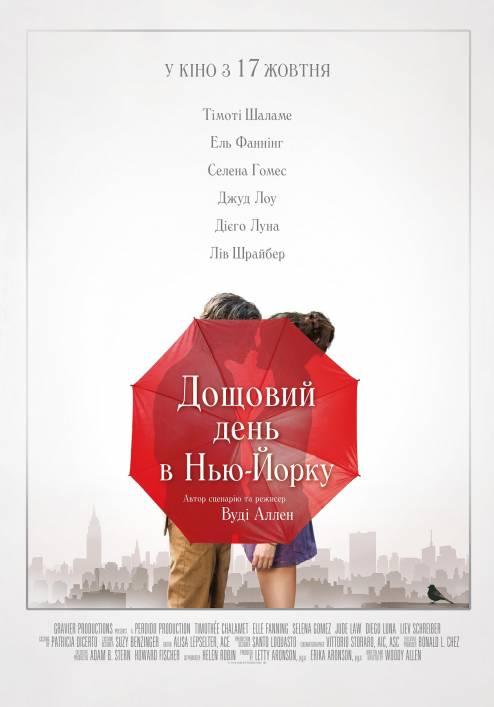 Фільм Дощовий день в Нью-Йорку - Постери