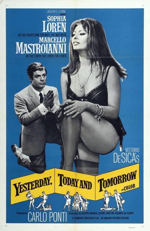 Фільм Вчора, сьогодні, завтра - Постери
