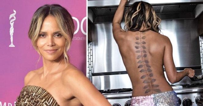Новости: Холли Берри показала татуировку на всю спину