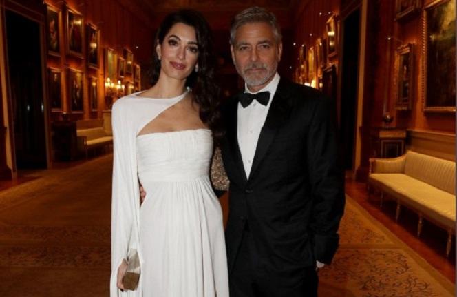 Новости: Клуни с женой провели свидание в Букингемском дворце