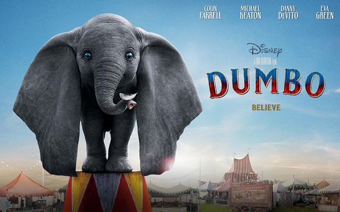 Слоненок обучается летать вновом трейлере «Дамбо»