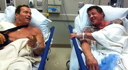 Новости: Шварценеггер и Сталлоне попали в больницу вместе