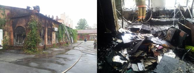 Новости: Произошел пожар на столичной киностудии имени Довженко